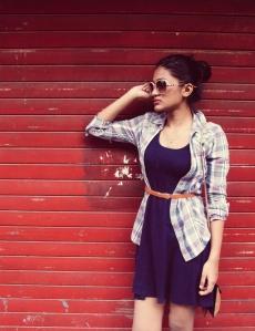 Dress-Rs 250 manish market , tan sling bag-Rs 150 bandra hill road, Wedges- jabong, Sunglasses -Rs 150 colaba causeway